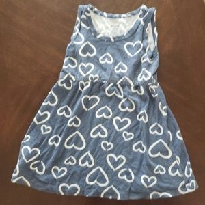 Silk Berry Blue & White Hearts Dress 18 month-2T